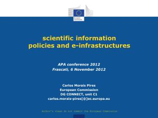 scientific information policies and e-infrastructures