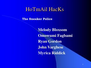 HoTmAil HacKs
