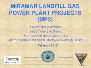 Miramar Landfill gas power plant projects MP3