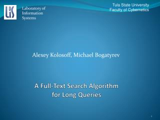 A Full-Text Search Algorithm for Long Queries