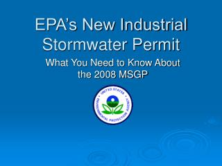 EPA's New Industrial Stormwater Permit