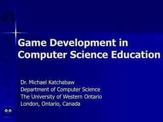Game Development in Computer Science Education