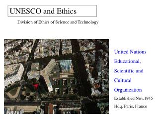 UNESCO and Ethics