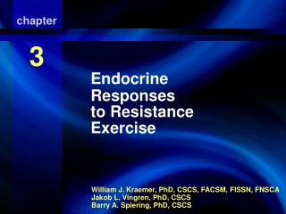 Endocrine Responses to Resistance Exercise