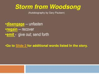 Storm from Woodsong