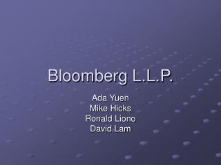 Bloomberg L.L.P.