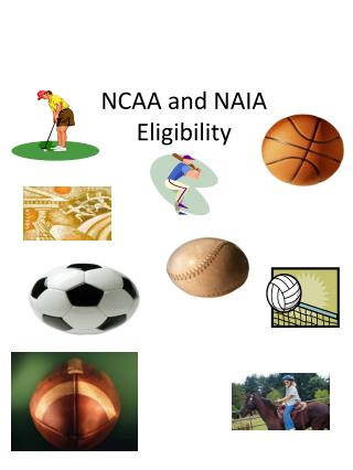 NCAA and NAIA Eligibility