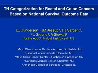 TN Categorization for Rectal and Colon Cancers  Based on National Survival Outcome Data