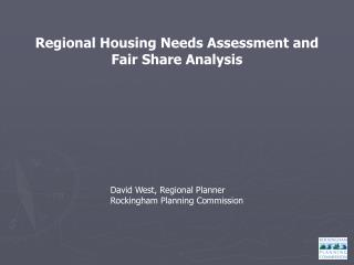 Regional Housing Needs Assessment and Fair Share Analysis