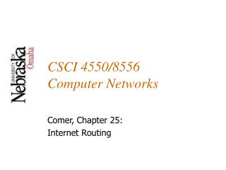 CSCI 4550/8556 Computer Networks