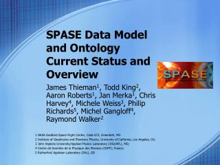 SPASE Data Model  and Ontology Current Status and Overview