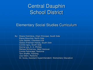 Central Dauphin  School District Elementary Social Studies Curriculum