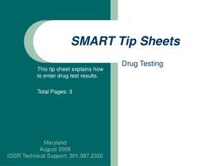 SMART Tip Sheets