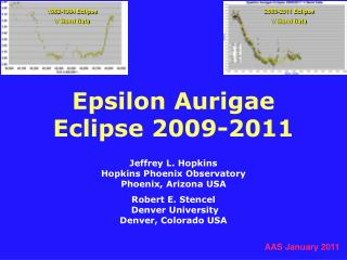 Epsilon Aurigae  Eclipse 2009-2011