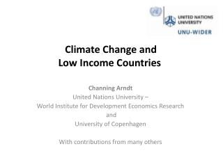 Climate Change and  Low Income Countries