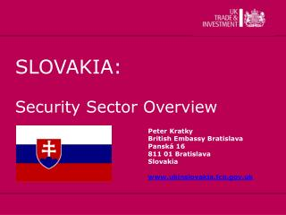 SLOVAKIA: Security Sector Overview