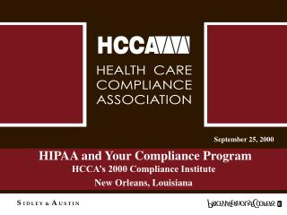 HIPAA and Your Compliance Program