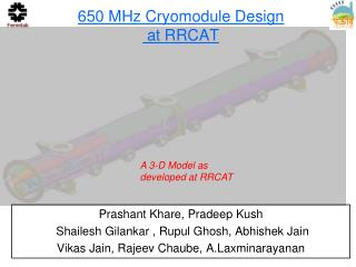 650 MHz Cryomodule Design  at RRCAT