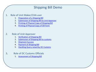 Shipping Bill Demo