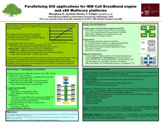 Parallelizing GIS applications for IBM Cell Broadband engine and x86 Multicore platforms