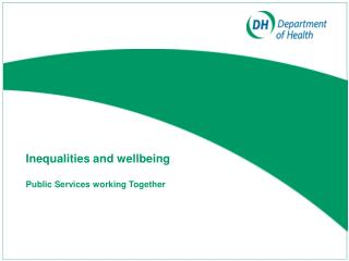 Inequalities and wellbeing