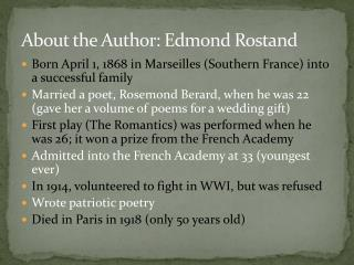 About the Author: Edmond Rostand