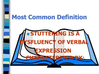 Most Common Definition