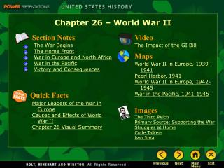 Chapter 26 – World War II