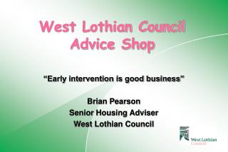 West Lothian Council Advice Shop