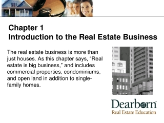 Learning Objectives Identify the various careers available in real estate and the professional organizations that suppor