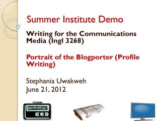Summer Institute Demo