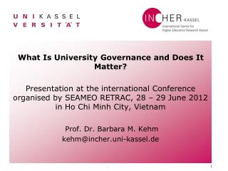What Is University Governance and Does It Matter?