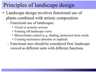 Principles of landscape design