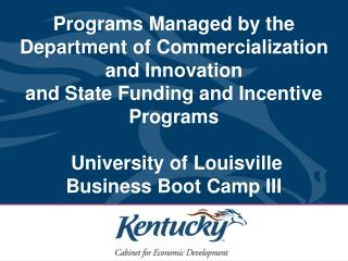 Kentucky Innovation Act