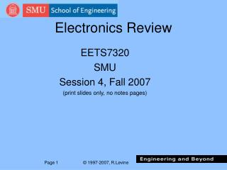 Electronics Review