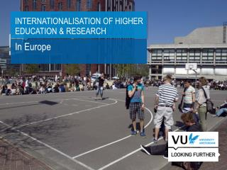 Internationalisation of Higher Education & Research
