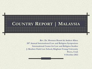 Country Report | Malaysia