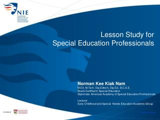 Lesson Study for  Special Education Professionals