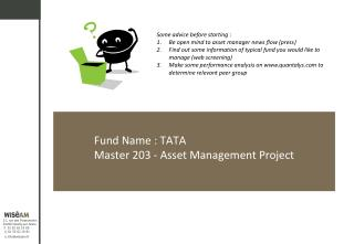 Fund Name : TATA Master 203 - Asset Management Project