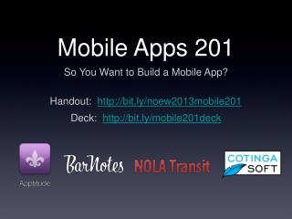 Mobile Apps 201