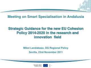 Meeting on Smart Specialisation in Andalusia