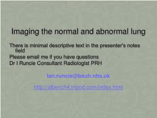 Imaging the normal and abnormal lung
