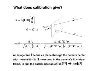 What does calibration give?