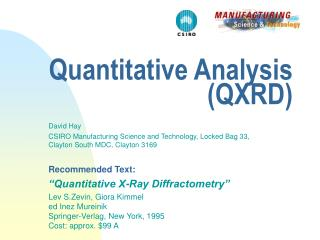Quantitative Analysis (QXRD)