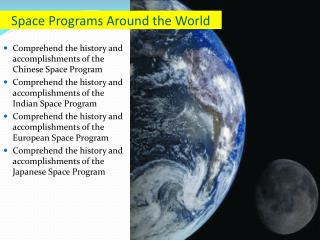Space Programs Around the World