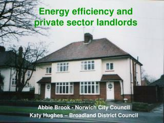 Energy efficiency and  private sector landlords