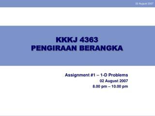 KKKJ 4363 PENGIRAAN BERANGKA