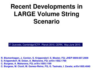Recent Developments in LARGE Volume String Scenario