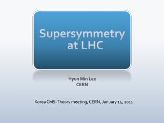 Supersymmetry  at LHC