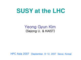 SUSY at the LHC